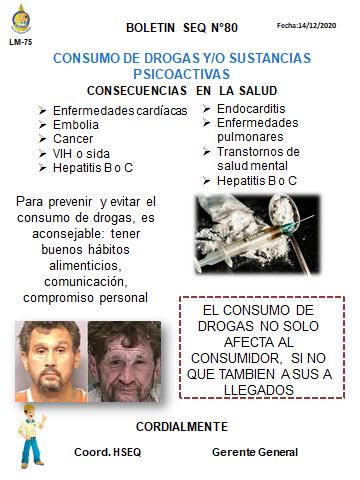 OLETIN N ° 80 CONSUMO DE DROGAS